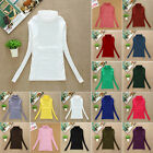 FASHION WOMENS LADIES CASUAL LONG SLEEVE TOP WOMENS TURTLE NECK T SHIRT JUMPER
