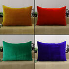 Cushion Cover Home Decor Throw Pillow Sham Velvet Solid Pattern Sofa Case
