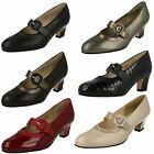 Ladies Equity Wide Fit Mary Jane Court Shoes Maxine