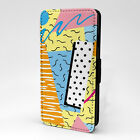Retro Abstract Print Design Pattern Flip Case Cover For Sony Xperia - P897