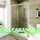 Sliding Shower Door And Tray &Waste Enclosure Glass Screen 1000/1100/1200/1400..