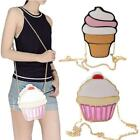 Girls Womens Kawaii Purse Cupcake Ice Cream Handbag Shoulder Crossbody Bag LA