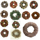 "30cm (12"") Christmas Wreath, Natural,Straw,Twig,Hanging Decoration,Pine Cones"