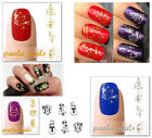 STICKERS Adesivi NATALE unghie Decalcomanie decals ORO o ARGENTO nail art