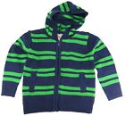 Urban Extreme Little Boys' Warm Striped Full-Zip Cardigan Sweater