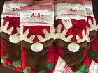 Pottery Barn Kids New Red Reindeer Quilted Christmas Stocking Choose Monogram