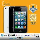 Apple iPhone 4 (8GB,16GB, 32GB) Straight Talk Cricket T-Mobile MetroPCS Tracfone <br/> Same-Day Shipping! #1 Customer Service 60 Day Warranty!