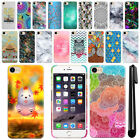 """For Apple iPhone 7 4.7"""" Art Design Protective Phone Hard Case Back Cover + Pen"""