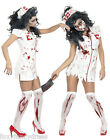 Ladies Zombie Nurse Halloween Fancy Dress Costume All Sizes