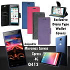Diary Wallet Style Folio Flip Flap Cover Case For Micromax Canvas Xpress 4G Q413