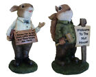 Novelty Fun Phrases Sign Outdoor Garden Animal Ornament Home Decorative Statues