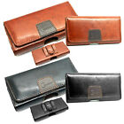 Mobile Phone Genuine Leather Holster Belt Pouch Case Potective Cover Magnet Flip