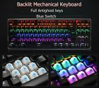 New In Box Aula 87 Key  Wired Mechanical Gaming Keyboard Blue Mechanical Switch