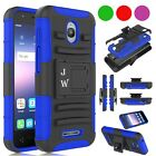 FOR ALCATEL PHONES RUGGED ARMORED HYBRID CASE COVER + BELT CLIP HOLSTER