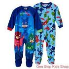 PJ MASKS Toddler Boys 2T 3T 4T Footed Pajamas BLANKET SLEEPER Pjs Disney