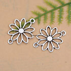 10/30/50Pcs Retro Style Tibetan Silver Flower Charm  Connector fit Bracele DK203