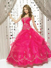 beaded pink ball gown sleeveless quinceanera dress prom evening pageant party