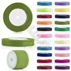 "50 Yards 1/8"" 1/4"" 3/8"" 5/8"" 3/4"" 1"" 2"" Organza Ribbon Craft Sewing Party Decor"