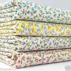 per 1/2 Mtr/fat quarter small print floral fabric 100% cotton dressmaking craft