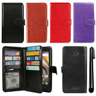 For Coolpad Catalyst 3622A Flip Magnetic Card Holder Wallet Cover Case + Pen