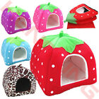 Strawberry Pet Dog Cat Doggy Puppy Bed Soft House Kennel Warm Cushion Basket Pad