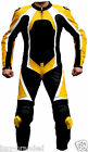 Yellow 100% cowhide Motorcycle Leather Suit Jacket Racing Biker ALL-SIZE