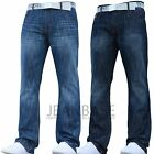 NEW MENS SMITH AND JONES BOOTCUT LEG DESIGNER BLUE JEANS FLARED ALL WAIST SIZES