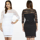 Plus Size Ladies Long Sleeve Bodycon Sexy Cocktail Party Evening Mini Dress New