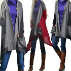 Women New Long Sleeve Pocket Cardigan Sweater Mixed Color Knitted Casual Outwear