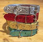 Dog Collar Christmas Glitter Strong Large Medium Small xs