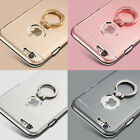 Luxury Metal Aluminum & Ring Buckles Stand Case Cover for iPhone 5 S SE 6 7 Plus