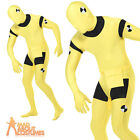 Crash Test Dummy Costume Second Skin Body Suit Fancy Dress Outfit Free Bag New