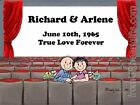 PERSONALIZED CUSTOM CARTOON PRINT - LOVERS AT THEATER - GREAT GIFT! FREE S/H