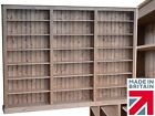 Solid Pine Bookcase, 7ft x 9ft Adjustable Display Library Shelving, Bookshelves