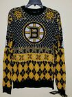 Official NHL KLEW BOSTON BRUINS HOCKEY UGLY CHRISTMAS SWEATER C PRIORITY MAIL