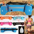 Sport Running Fitness Waist Belt Bum Bag Jogging Marathon Pouch + 2 Water Bottle image