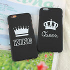 King And Queen Crown Lovers Hard Phone Case Cover For iPhone 5 5S 6 6S 7 Plus
