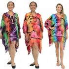 Vibrant Beach Kaftan Cover Up NEW Womens Resort Wear Size 10-26 Festival Top