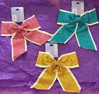 White-Trimmed Cheer Bow Choose Pink, Aqua/Teal, or Gold - Brand New