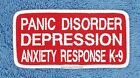 PANIC DISORDER SERVICE DOG PATCH 2X4 INCH Danny & LuAnns Embroidery assistance