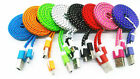 1M 3ft Braided Fabric Micro USB Data&Sync Charger Cable Cord For Samsung 18a29