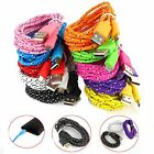 1M 3ft Braided Fabric Micro USB Data&Sync Charger Cable Cord For Samsung 18a21