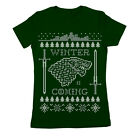 Winter Is Coming Ugly Christmas Sweater  Forest Green Women's Jr Fit T-Shirt