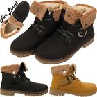 New Childrens Kids Fur Lined Girls Winter Lace Buckle Infant Ankle Boots Shoes