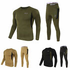 Mens Winter Warm Underwear Sets Thermal Tops Bottom Long Pants Tactical Outdoor