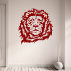 Majestic Lions Head Design Bedroom Living Room Vinyl Wall Art Sticker Decal