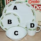 Corning Corelle HOLLY DAYS  berry Christmas dinner salad plates bowls cup-CHOOSE