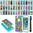 """For Apple iPhone 8 / iPhone 7 4.7"""" Hybrid Bumper Shockproof Case Cover + Pen"""