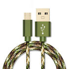 1m 2m Nylon Micro USB FAST Data Sync Charging Cable Cord for Android Phone UK
