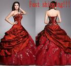 Elegant Burgundy Evening Dress Silver Appliques Formal Party Gown Fast Shipping